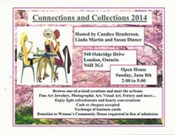 "poster of an interdisciplinary event ""Connection and Collections"" in London Ontario"