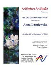 poster for a solo exhibition in ArtVenture Art Studio in London Ontario